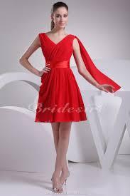 a linie v ausschnitt kurz mini chiffon brautjungfernkleid mit rusche p549 http www bridesire de alinie vausschnitt kurzmini aermellos