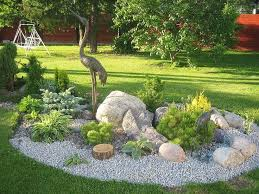 Bush Rock Garden Edging Marvelous Flower Gardens With Rocks Photos Best Inspiration Home