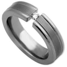 ring men edward mirell men s tension band titanium diamond ring elisa ilana