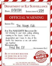 printable elf on the shelf arrival letter an elf warning for naughty kids make your elf on the shelf useful