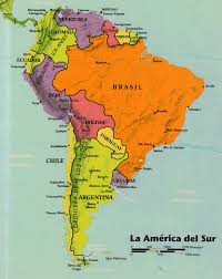America Central Map by Spanish Web Resources Maps