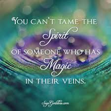 you can u0027t tame the spirit of someone who has magic in their veins