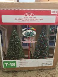 Cashmere Trees Christmas Sale - 7 5 ft pre lit artificial charleston cashmere christmas tree only