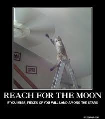 Moon Meme - reach for the moon meme guy