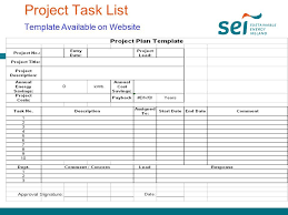 project task list template project task list maker