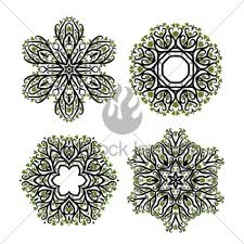 arabesque ornament for your design gl stock images