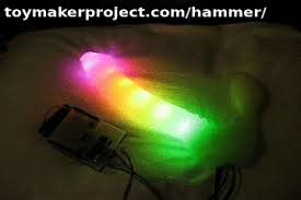 cool light up things the hammer a muscle controlled light up the toymaker project