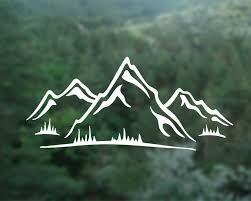 mountain vinyl decal mountain wall stickercar window decal