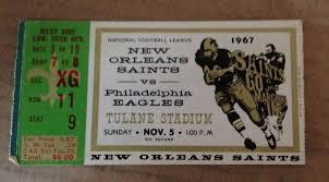 ticket stub album found this 1967 saints vs eagles ticket stub in an photo album