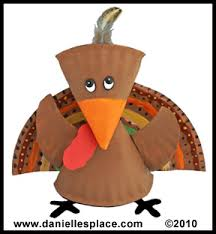 this turkey craft project was made using paper plates these