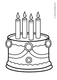 cake birthday party coloring pages for 4 years coloring pages