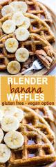 blender banana rice gluten free waffles dairy free
