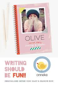 writing paper with space for picture best 25 personalised diary ideas on pinterest free family beautiful personalised kids diary with space for drawings doodles as well writing should be