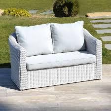 canape de jardin canapé de jardin 2 places blanc perle salon à composer