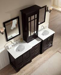Double Bathroom Sink Cabinets Ariel Stafford 85