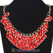 multi statement necklace images Coral chunky multi layers bubble bib statement necklace wholesale jpg