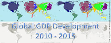 Global Map Of The World by Gdp Changes 2010 2015 Views Of The World