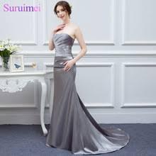 popular silver gray bridesmaid dresses buy cheap silver gray