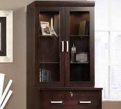 glass front bookcase black doherty house elegant glass front