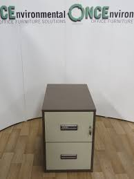 used office storage chubb 2 drawer fireproof filing cabinet 730h x
