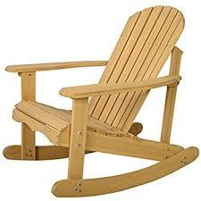 amazon com giantex outdoor natural fir wood adirondack rocking