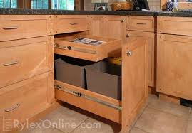 kitchen cabinet trash pull out kitchen recycling pullout trash cabinets orange county ny