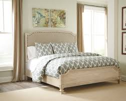 ashley demarlos parchment white king bedroom set dream rooms