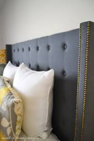 diy upholstered wingback headboard amys office