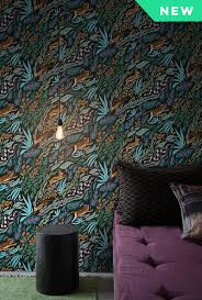 Wallpaper For Walls Teal And Pink Designer Wallpaper By Artists Free Samples Ship Feathr