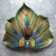 peacock fan peacock fan barrette by beadmask on deviantart