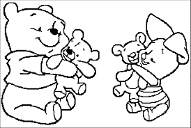 baby winnie pooh coloring pages glum
