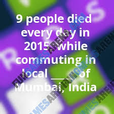 usa today crossword answers july 22 2015 9 people died every day in 2015 while commuting in local of