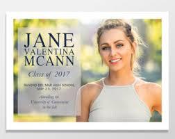 personalized graduation announcements senior graduation announcement photo cards custom graduation