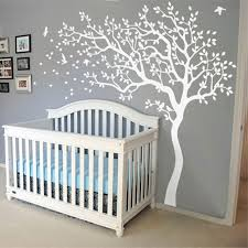Tree Wall Decal For Nursery 2017 New White Tree Wall Decal Nursery Tree And Birds Wall