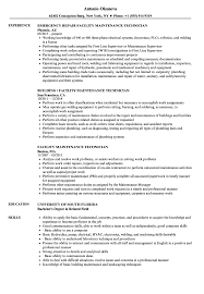 maintenance technician resume facility maintenance technician resume sles velvet