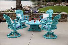 Swivel Patio Chairs Sale Furniture Fabulous Outdoor Living Space With Turquoise Swivel