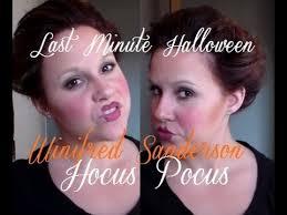 Winifred Sanderson Halloween Costume Minute Halloween Hair Makeup Winifred Sanderson