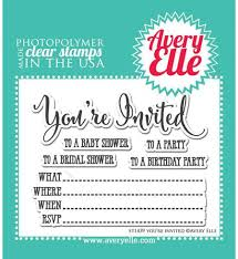 stampendous spanish invite perfectly clear stamp ssc1151