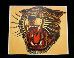 vintage sailor jerry bengal tiger poster print ebay