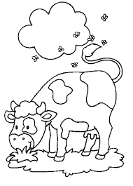 farm animals colouring pages kids cow coloring pages cow