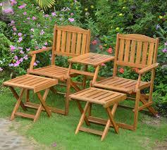 panchina in legno da esterno set da giardino con divanetto e poggiapiedi duzzle