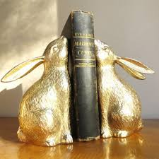 rabbit bookends shop brass bunny on wanelo