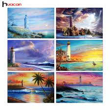 lighthouse home decor diy diamond painting scenic series needlework lighthouses home
