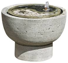 Yin Yang Table by Yin Yang Pot Garden Water Fountain Traditional Outdoor