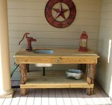 outdoor kitchen sinks ideas garden washing station homeplace earth custom cedar potting bench