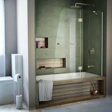 dreamline aqua 48 in x 58 in semi framed pivot tub shower door