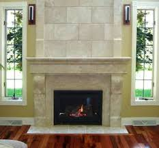Laminate Flooring Fireplace Brick Stone Fireplace With Black Metal Fire Box On Ceramics