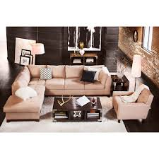 soho 2 piece sectional with left facing chaise cobblestone