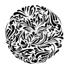 monochrome black and white lace ornament royalty free cliparts
