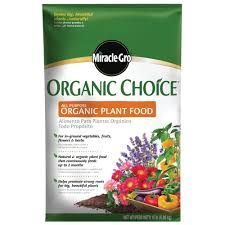 miracle gro organic choice 15 lb all purpose plant food 100958